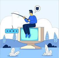 Computer hacker illustration concept vector