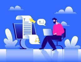 Search engine optimization specialist illustration concept vector