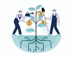 Growing financial status illustration concept vector
