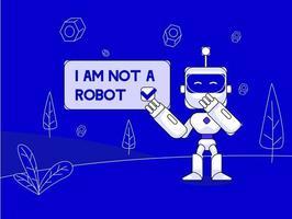 Captcha i am not a robot vector illustration concept