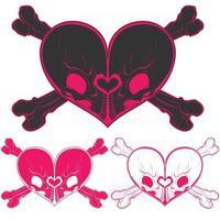 Heart shaped skull design vector