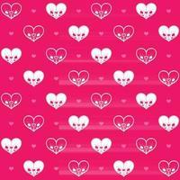 Heart shaped skulls pattern vector