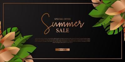 luxury summer banner vector
