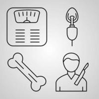 conjunto simple de iconos de línea de vector médico
