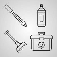 Set of Construction Icons Vector Illustration Isolated on White Background