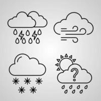 Simple Icon Set of Weather Related Line Icons vector