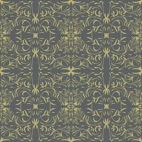 Floral folk damask pattern vector