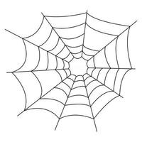 Spider web Black and white icon for design isolated on white background Simple vector Halloween element