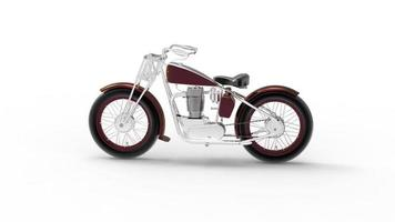 Classic Motorcycle in Old Style video
