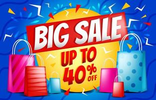 Big Sale Banner Background Template vector