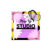 Creative make up logo design vector