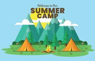 Summer Camp Outdoor Background vector