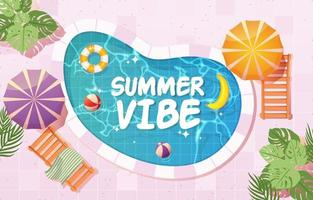 Summer Vibe Background vector