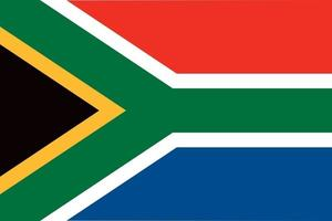 South Africa officially flag vector