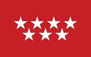 bandera de la comunidad de madrid vector