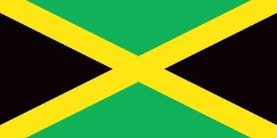 Jamaica officially flag vector