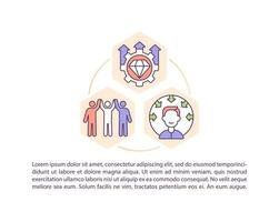 Corporate culture improvement concept line icons with text vector