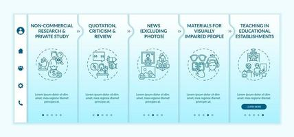 Special cases to copyright onboarding vector template