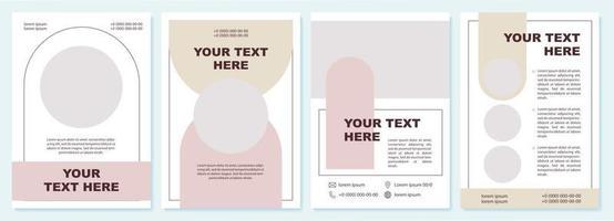 Business advert contemporary brochure template vector