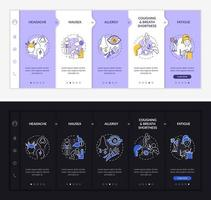 Air pollution respiratory disease onboarding vector template
