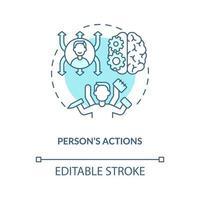 Person actions blue concept icon vector