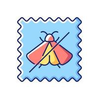 Moth repellent fabric feature vector flat color icon