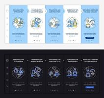 Hypoacusis prevention onboarding vector template