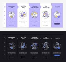 Ear infectious states onboarding vector template