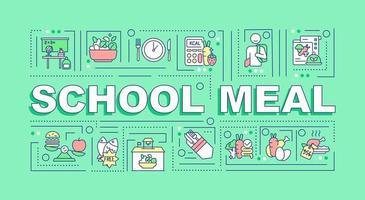 School meal word concepts banner vector