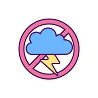 Prevent depression RGB color icon vector