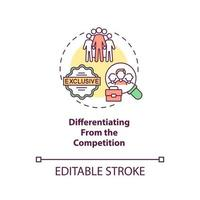 Differentiating from competition concept icon vector