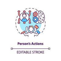 Person actions concept icon vector