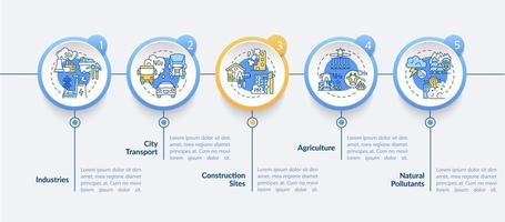 Ambient air pollution vector infographic template