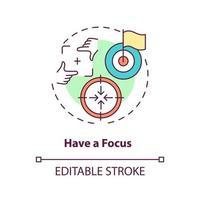 Have focus concept icon vector