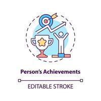 Person achievements concept icon vector