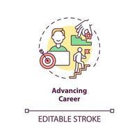 Advancing career concept icon vector