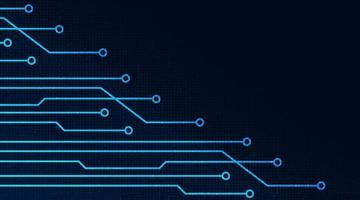 línea digital sobre fondo de tecnología vector