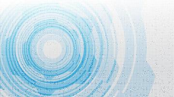 fondo de tecnología de círculo de energía ligera vector