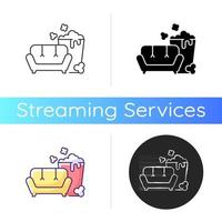TV series streaming icon vector