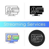 Subscription fee icon vector