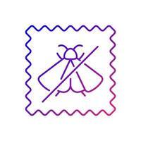 tela repelente de polilla característica icono de vector lineal degradado