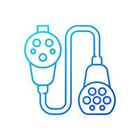 Charging adapter and converter gradient linear vector icon