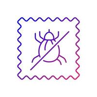 Dust mite proof textile quality gradient linear vector icon