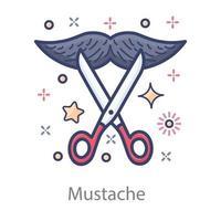 Mustache  Facial Hairs vector