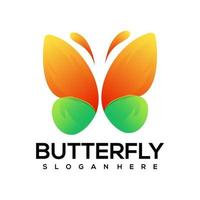 Butterfly colorful logo illustration vector