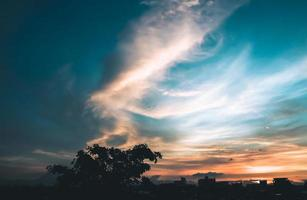 Bright solar glow and sky photo