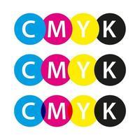 vector cmyk símbolos cian magenta amarillo y negro logotipos de colores para su infografía y plantillas de negocios