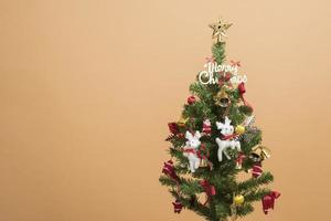 Christmas tree on autumn background photo