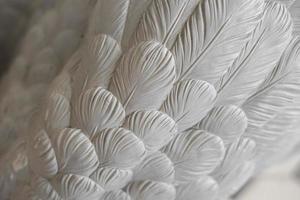 Beautiful white cement goose photo