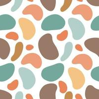 Vector illustration of seamless pattern of minimalist camouflage ornament drawn with earthy natural colors